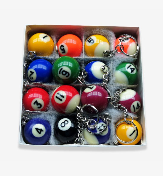 Billiard Ball Key Chain